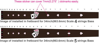 画像3: フレットレス用プレイングカード/トランプ(BLACKパール)