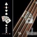 フレットレス用プレイングカード/トランプ(ホワイトパール)