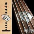 フレットレス用プレイングカード/トランプ(BLACKパール)