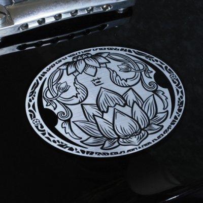 画像1: 蓮 彫金調