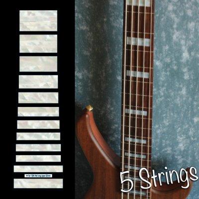 画像1: ジャズ・ベース・ブロック(ホワイトパール) 5弦ベース用