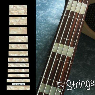 画像1: ジャズ・ベース・ブロック(Agedホワイトパール) 5弦ベース用